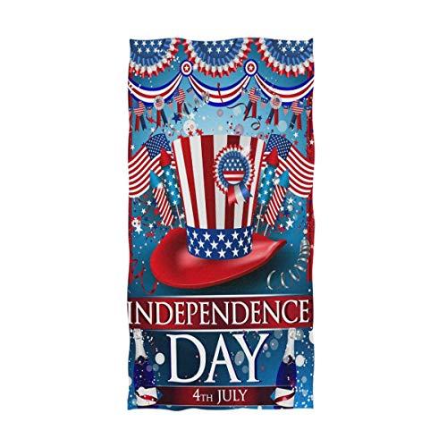 Stars USA Flag Toallas de Mano Grandes, 4 de Julio Día de la Independencia Memorial Day Baño Toallas de Ducha Toallas Multiusos Altamente absorbentes (40x70cm)