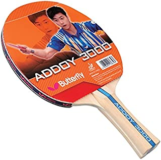 Butterfly Addoy Table Tennis Racket – Table Tennis Paddle with Smooth Rubber - Great Beginner Ping Pong Racket - ITTF Approved Butterfly Ping Pong Paddle - Choose 1000, 2000, or 3000 Ping Pong Racket Models