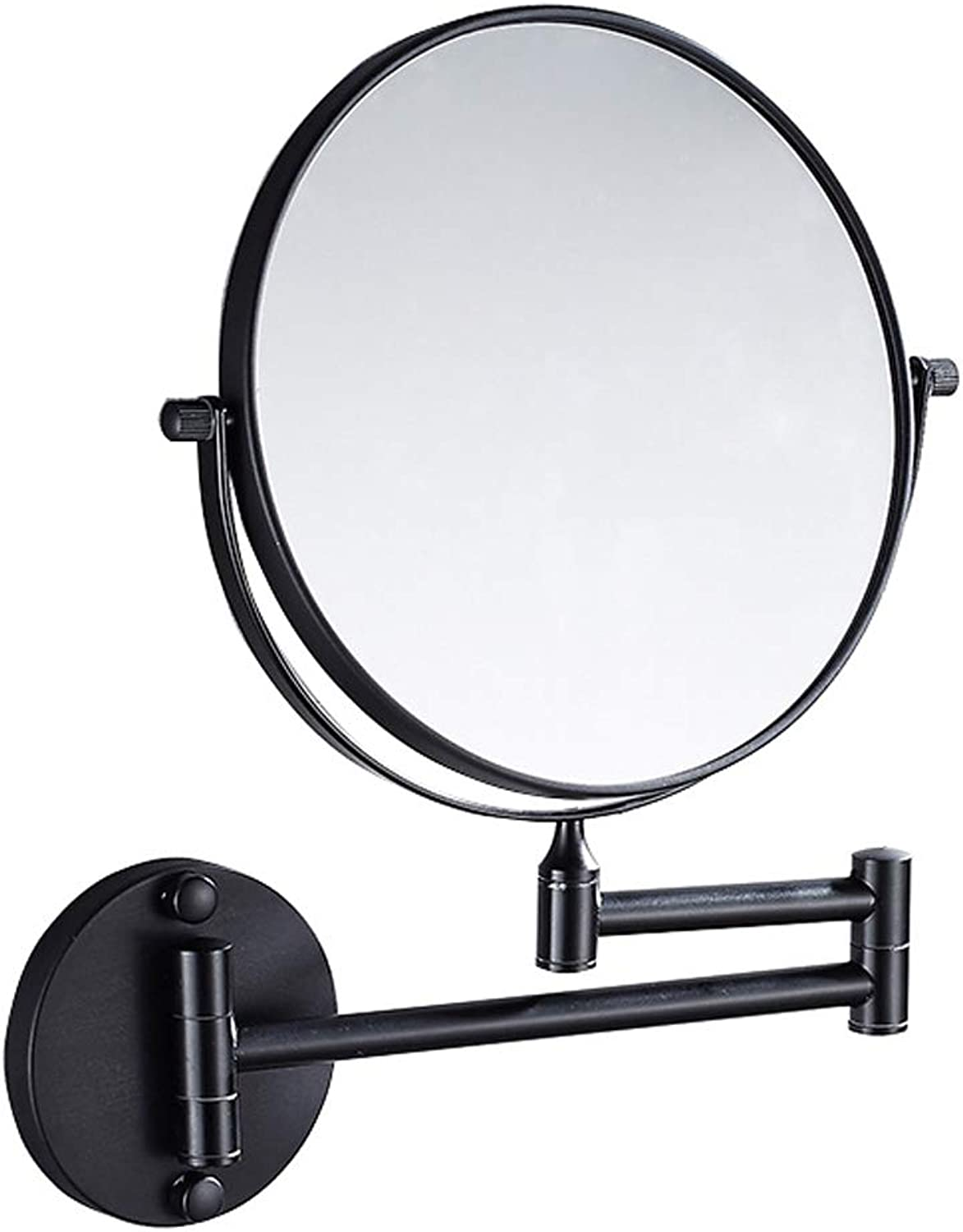 Wall Mounted Makeup Mirror - with 3X Magnification 2-Sided Swivel Shaving Bathroom Makeup Vanity Mirror Silver   8-inch