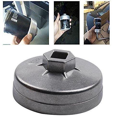 Eagles 6110 Ölfilter-Sockel, 74mm, 14 Nuten für Ölfilter für Mercedes, Porsche, VW, Audi