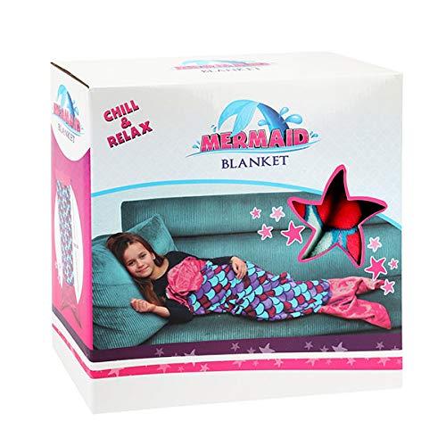 Toi-Toys 35560A Kinderschlafsack Meerjungfrau, kuscheliger Schlafsack für Kinder Meerjungfrauen-Flosse ca. 138 cm