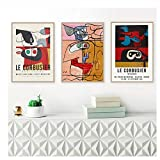 Französisch Le Corbusier Ausstellung Poster Autrement Que