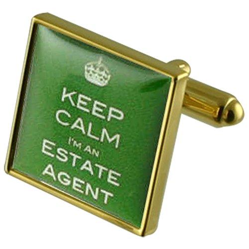 Agent immobilier Manchette avec pochette cadeau sélectionner