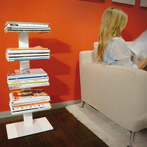 Radius Design Bookbaum – Stand Magazine Weiß