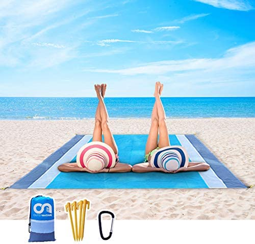 Outer Beach Blanket Portable Outdoor Sand Proof and Waterproof Picnic Beach Mat for Travel Includes product image