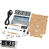 Gearwoo 4-Digital DIY Clock Kits, LED Talking Clock Without Speaker, PCB for Soldering Practice Learning Electronics +Transparent Case+ English Instructions, CR1220/CR1216 Batteries are NOT Included