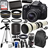 Canon EOS 90D DSLR Camera with EF-S 18-55mm & 650-1300mm Manual Zoom Lens Essential Bundle - Includes: 2X Teleconverter, SanDisk Ultra 64GB SD Card, Spare LP-E6 Battery, Dedicated TTL Flash & More