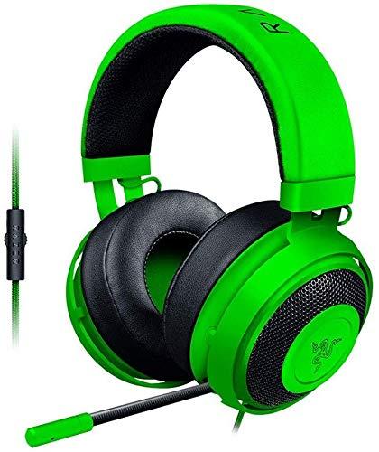 Casque Cristal PC for Les Jeux Mobiles ou vidéo Playbackheadset Rose, Couleur: Rose (Color : Green)