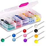 Yalis Push Pins 600-count Map Tacks Marking Pins 1/8-Inch Plastic Beads Head, 10 Assorted Colors