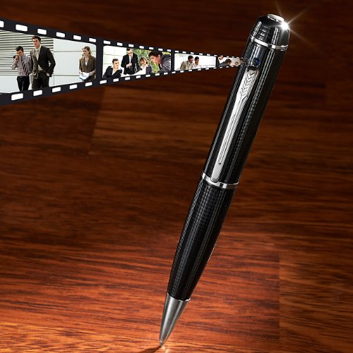 Somikon Stiftkamera: HD-Videokamera im Kugelschreiber DV-730HD mit microSD-Slot (Kamera Kugelschreiber)
