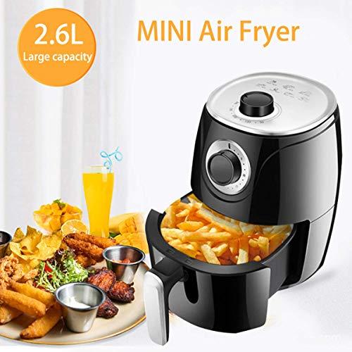 Luftfritteuse,ölfreie elektrische Friteuse,Timer und einstellbare Temperaturregelung für ölfreies,fettarmes Kochen,Grillen oder Backen