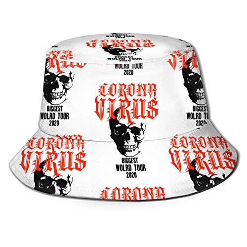 DFHGFJGH Cappello da Pescatore Coro-navirus Biggest World Tour 2020 Bucket Hat Unisex Sun Hat Printed Fisherman Packable Travel Hat Fashion Outdoor Hat