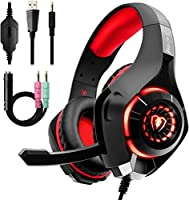 Gaming Headset for PC PS4, Beexcellent Stereo Surround Sound Gaming Headphones with Noise Cancelling Microphone Volume...