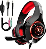 Gaming Headset for PC PS4, Beexcellent Stereo Surround Sound Gaming Headphones with Noise