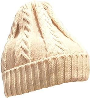 Pingtr Ladies Womens Girls Ribbed Knit Winter Beanie Bobble Hat Skull Slouchy Caps