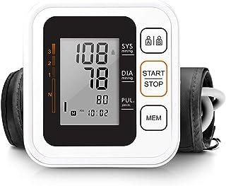 LOOSET Fonética esfigmomanómetro, Parte Superior del Brazo Monitor de presión Arterial con Mango transmisión en Vivo de Voz, Modo de Fuente de alimentación Dual de la batería Externa y enchufe-B26a