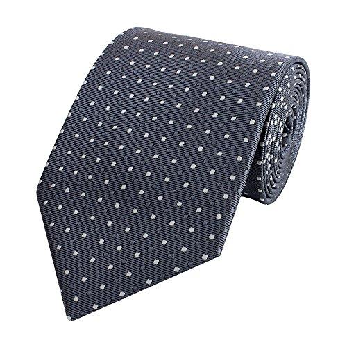 Krawatte von Fabio Farini gepunktet in grau weiß