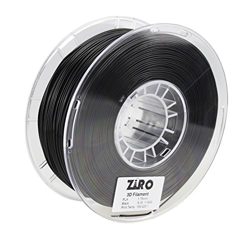 ZIRO 3D Printer Filament PLA 1.75 1KG(2.2lbs), Dimensional Accuracy +/- 0.05mm, Black