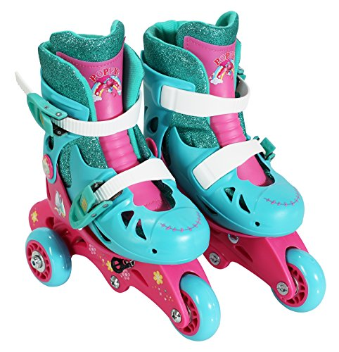 PlayWheels Trolls Convertible 2-in-1 Skates, Junior Size 6-9