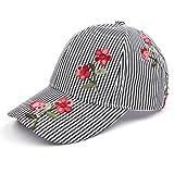 C.C Oriental Flower Patten Baseball Cap(BA-748) (Poplin-Black)
