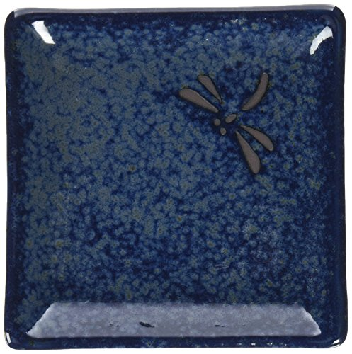 Happy Sales 6 Piece Dragonfly Appetizer Plate Set, Blue
