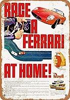 1965フェラーリスロットカーレースビンテージメタルサイン