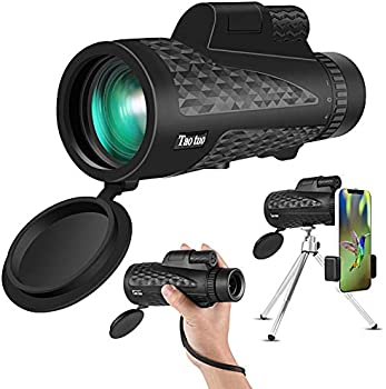 Taotuo 12x50 Zoom Monocular with Smartphone Holder and Tripod