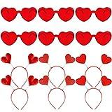 URATOT 6 Pairs Valentines Heart Shape Sunglasses...