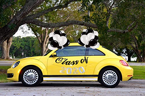 Review Of 2020 Graduation Parade Car Decorations Kit, Black and White Decorations EVERYTHING from Pl...