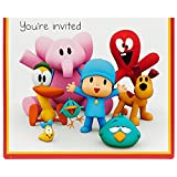 Birthday Express Pocoyo Party Supplies Invitations for 8