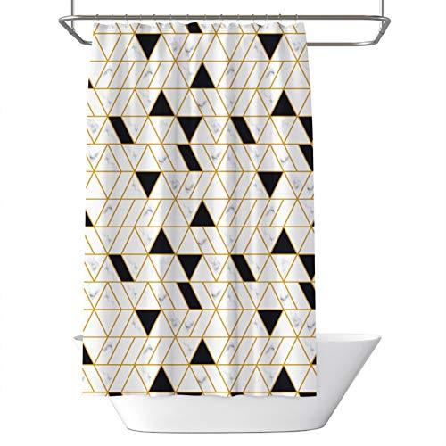 KGKBH Duschvorhänge Badezimmer einfach und abstrakt Ebay Dreieck Box Vorhang wasserdicht Schimmel Polyester Kupfer Schnalle Duschvorhang 182,9 x 182,9 cm, 180 x 180 cm, 72X72in(180X180CM)