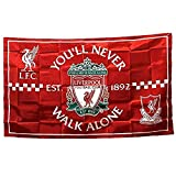 STER-TSP Liverpool FC Flagge, authentisches Banner – You'll Never Walk Alone, 91 x 152 cm, Rot