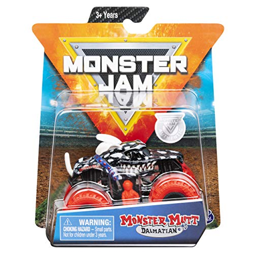 Monster Jam 2019 Inverse Trucks Monster Mutt Dalmatian 1:64 Scale Diecast with Figure by Spin Master