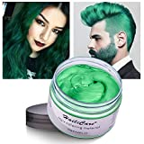 Temporary Hair Color Dye One Day Hair Color Temporary Hair Color Hair Wax Color for Men Kids Hair Dye for Halloween Party Cosplay (Green)