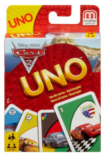 Mattel T8230 - UNO Cars 2, Kartenspiel