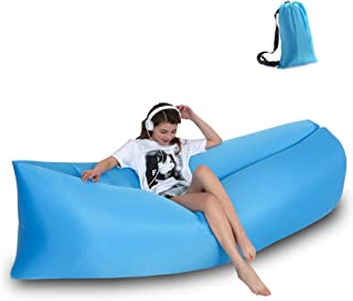 LIANG Inflatable Lounger Portable Hammock Air Sofa and Camping Chair with Water Proof& Anti-Air Leaking Design, Ideal Infl...
