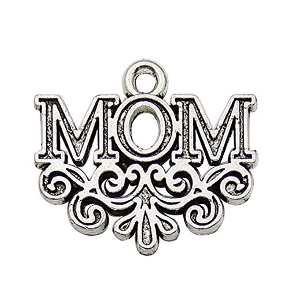 Family Mom Words Charm -40 Pcs Craft Supplies Antique Silver Moon Words Letters Charms Pendants for Jewelry Making Findings Crafting Accessory for DIY Necklace Bracelet Earrings (10343)