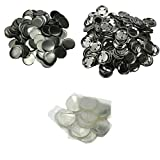 DAWEI 200Pcs 2' & 50mm Top/Metal-Bottom Cover Clip Pin Blank Badge & Button Parts for Badge Maker Machine