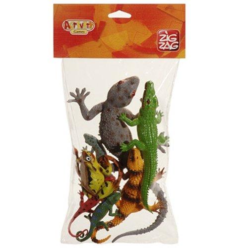 Cofalu - 510GU - Figurine - 8 x Reptiles - Maxi