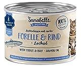 Sanabelle Nassfutter Leckerbissen mit Forelle & Rind | 6 x 195 g | 1.17 kg