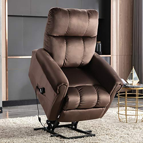 BTM Power Lift Recliner Chair for Elderly Sofa Electric Riser Recliner - Heavy Duty and Safety Motion Reclining Mechanism Sofa Living Room Chair with Side Pocket, Functional w/Remote Control