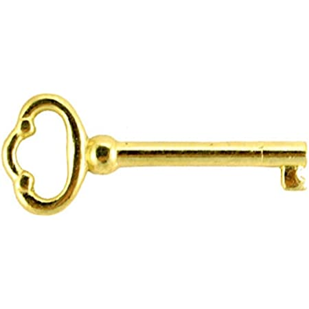 Antiqued Brass Plated alloy Skeleton Antique Furniture Key Antique Key
