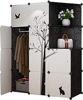 Garde-robe Simple Armoire Moderne Espace économique Plastique Espace Porte coulissante Chambre Assemblée Casier Dortoir Ar...