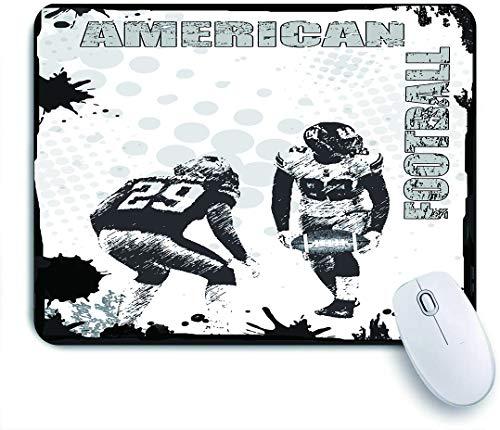 Dekoratives Gaming-Mauspad,American Football Grunge Poster background,Bürocomputer-Mausmatte mit rutschfester Gummibasis