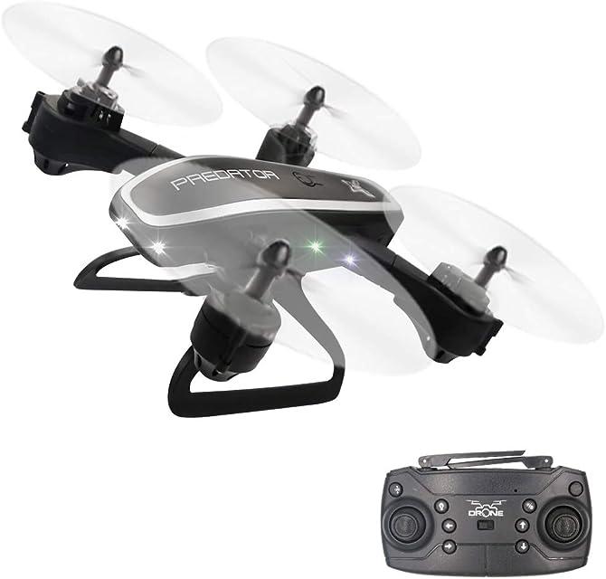 3T6B Drones para Niños Principiantes Cuadricóptero RC Plegable con luz Intermitente Regreso con un Solo Botón Flip 3D 15 Minutos de Tiempo de Vuelo Posicionamiento de Flujo óptico