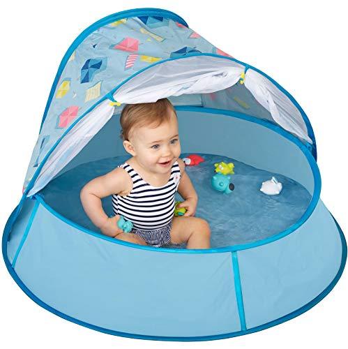 Babymoov Aquani Tent & Pool - 3 in 1 Pop Up Tent, Kiddie Pool and Play Yard