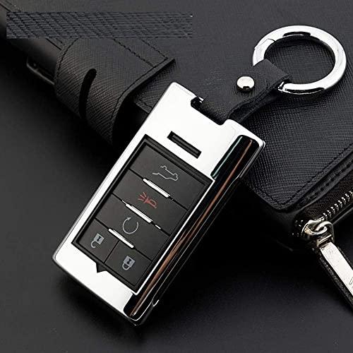 Z0XPin - Carcasa de aleación de zinc para llave de coche, para Cadillac Escalade SRX XTS ATSL SLS CTS STS ATS BLS (plateada)