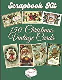 Scrapbook Kit - 150 Vintage Christmas Cards: Ephera Elements for Decoupage, Notebooks, Journaling or Scrapbooks. VintageX-Mas Images - Things to Cut Out and Collage