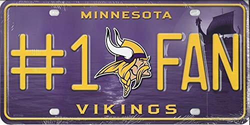 Vikings #1 Fan Metal License Plate