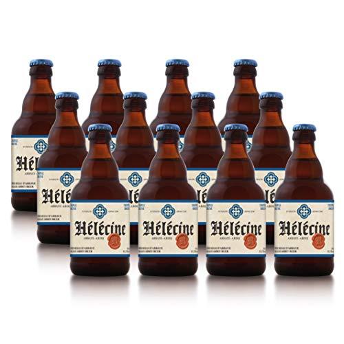 Hélécine - Cerveza de abadía belga Triple Brune - Pack de 12 Botellas de 33 cl